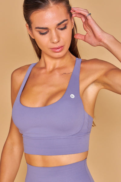 Vinyasa Lux Bra in Purple