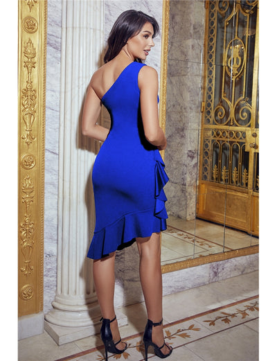 Tori Jessica Wright Blue Midi Dress