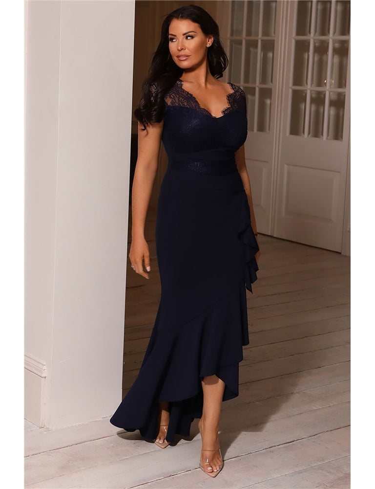 Jessica Wright Amianne Navy Lace Top Dress