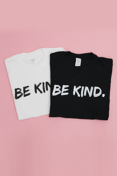 Be Kind Slogan T-shirt in White