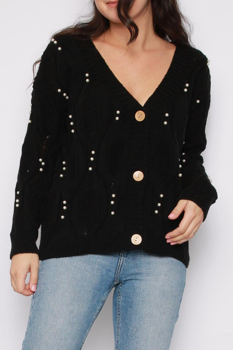 Pearl Button Knitted Cardigan