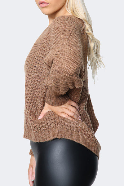 Oversized Batwing Knitted Jumper