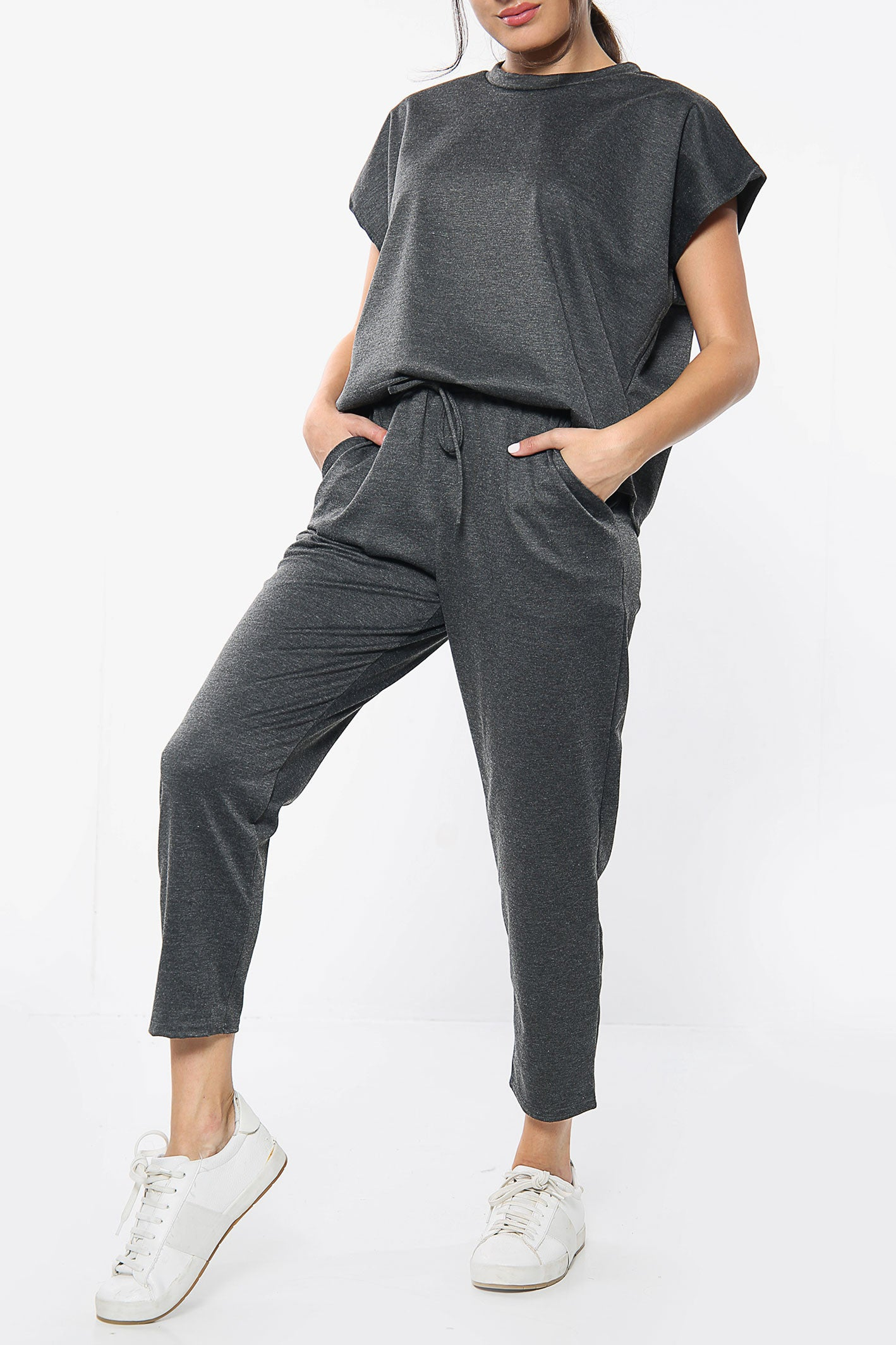 Short Sleeve Boxy Top & Jogger Loungewear Set