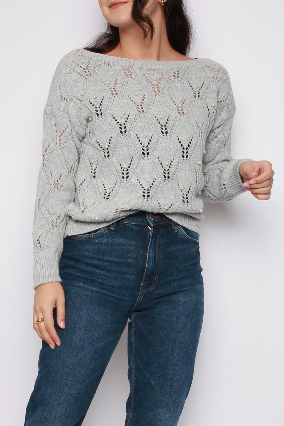 Pearl Long Sleeve Knitted Jumper