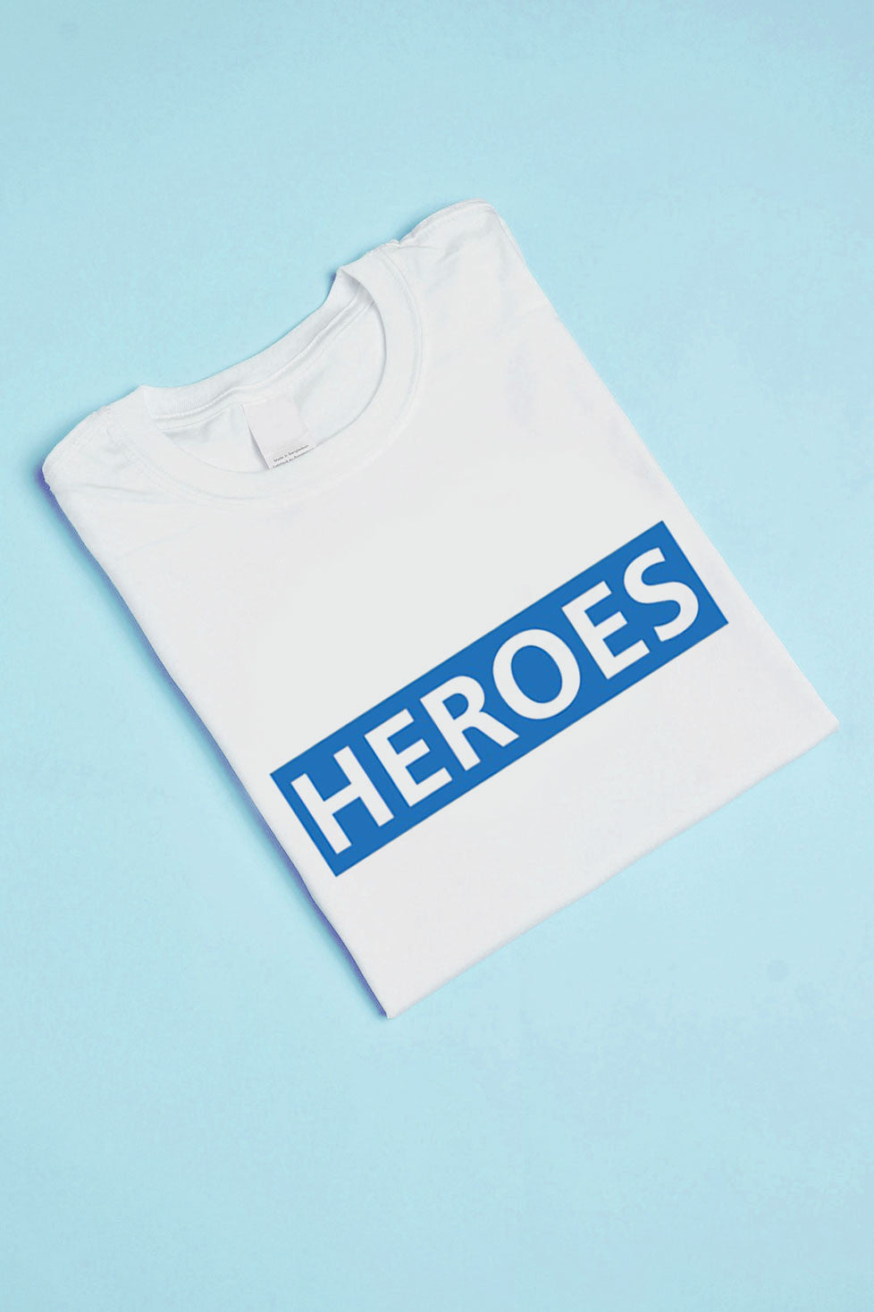 HEROES Slogan T-shirt in White