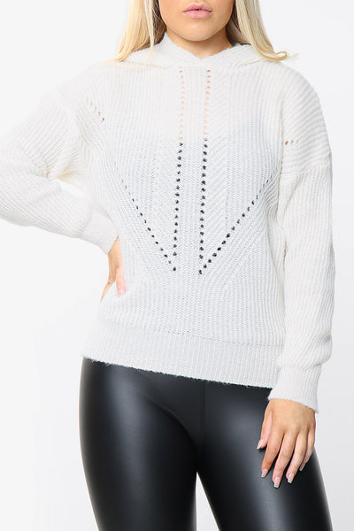 Soft Knit Hooded Jumper