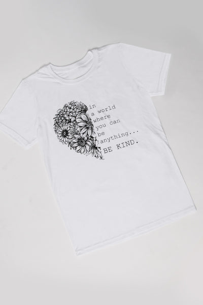 Be Kind Heart T-Shirt in White