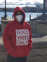 Load image into Gallery viewer, GOOD VIBES ONLY    HOODED SWEATSHIRT
