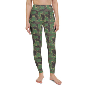 Camo Forest Ferrets Yoga Leggings
