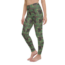 Load image into Gallery viewer, Camo Forest Ferrets Yoga Leggings