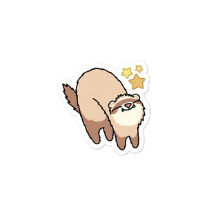 Happy Meemoo Ferret Sticker