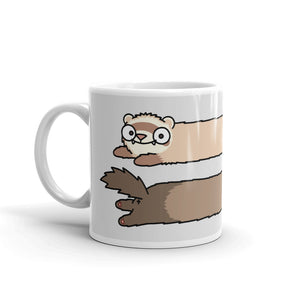 Ferret Stripes Grey Mug - SiberianLizard