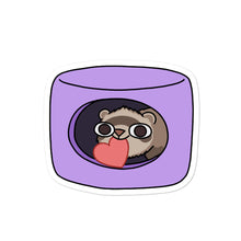 Load image into Gallery viewer, Feefoo In Love Ferret Sticker