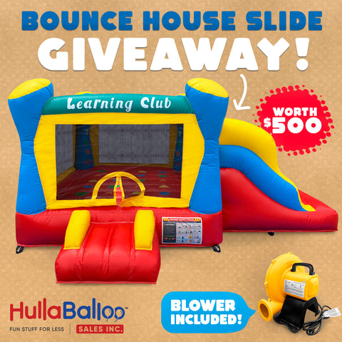 bounce house slide giveaway contest