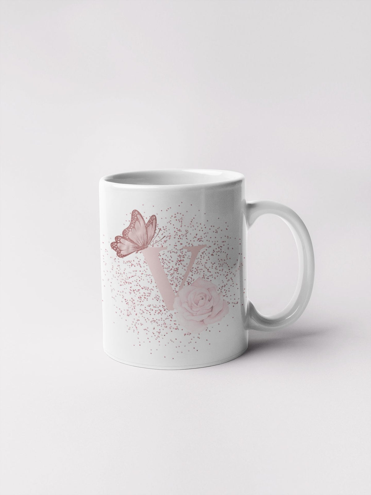 Blush Butterfly alphabet 11oz mug - BCV Personalised - Personalised Gifts