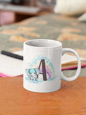 Elephant Rainbow Cute 11oz Mug - BCV Personalised - Personalised Gifts