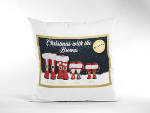 Family Personalised Christmas Cushion 16