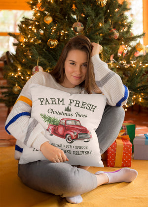 Farm Fresh Christ Trees Cushion 16