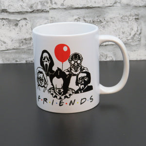 Friends Horror Mug Saw Pennywise Jason Chucky Scream 11oz Mug - BCV Personalised - Personalised Gifts