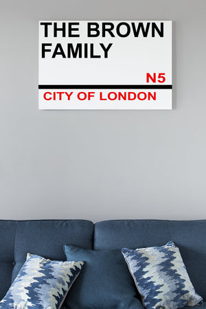 Personalised Aluminium Family street sign City/Family Name - BCV Personalised