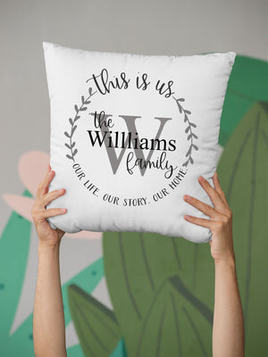 Personalised family Monogram This is us - Cushion 16