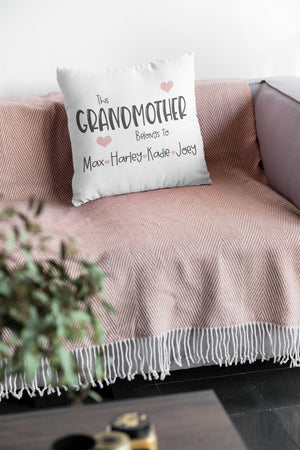 Personalised Grandmother/Grandma/Nan Cushion Cover - BCV Personalised