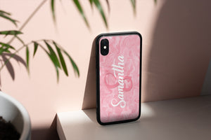 Pink Marble Personalised Phone Case Iphone/Samsung - BCV Personalised