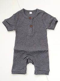 Ribbed romper suit freeshipping - BCV Personalised