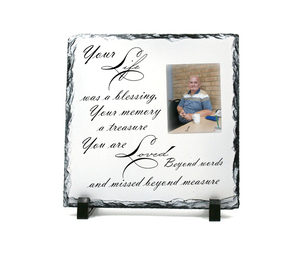 Personalised Photo Remembrance Slate 4