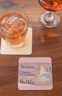 Wine served by the glass or bottle Coaster freeshipping - BCV Personalised