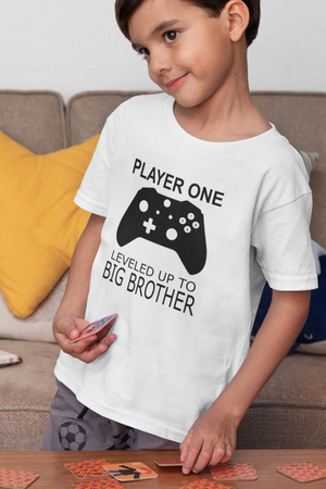 Player One Big Brother Gaming Children's T-Shirt