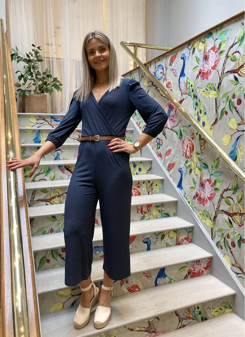 Navy Blue Jumpsuit Jumpsuits Elmay Boutique
