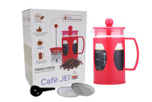 Load image into Gallery viewer, Cafe JEI French Press Coffee and Tea Maker 600ml, Soft (Red)