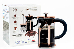 French Press Coffee and Tea Maker 600ml (Rose Gold)