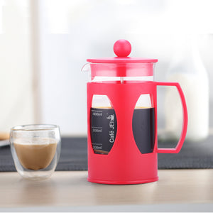 Cafe JEI French Press Coffee and Tea Maker 600ml, Soft (Red)