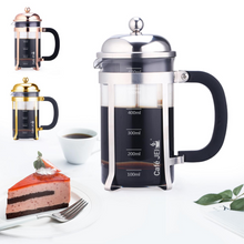 Load image into Gallery viewer, Cafe JEI Classic Dome French Press Coffee and Tea Maker 600ml (Dome Chrome)