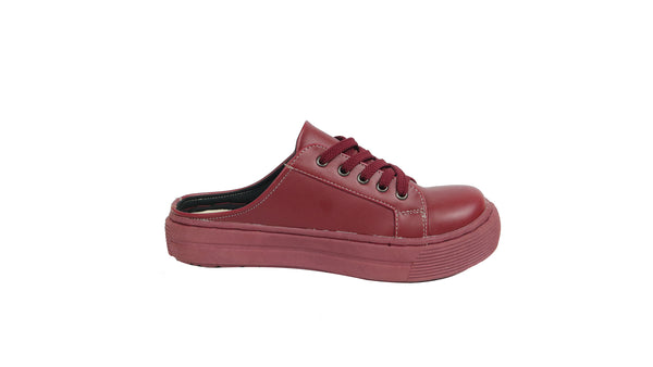 MILLA HALF SHOES | MAROON