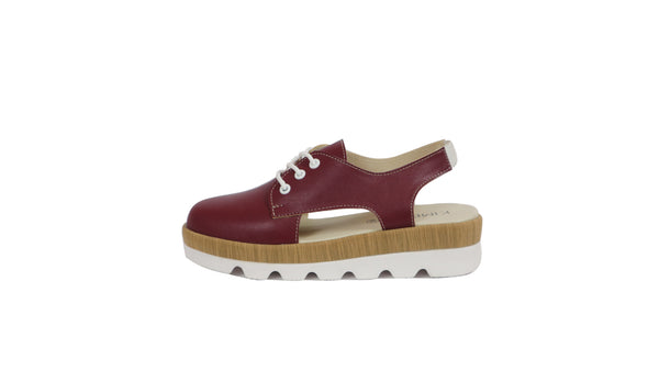 MILEA HALF SHOES | MAROON