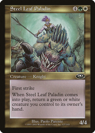 Steel Leaf Paladin [Planeshift] | Gate City Games LLC