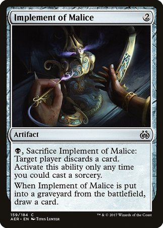 Implement of Malice [Aether Revolt] | Gate City Games LLC