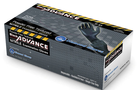 Nitrile Exam Powder-Free Glove - BLACK ADVANCE