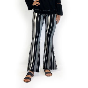 Bell Bottom B/W Stripe