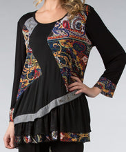 Load image into Gallery viewer, Blk/Multi Abstract Mesh Tunic