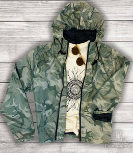 Camo Hooded Rain Slicker