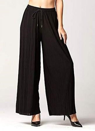 Solid Pleated Pant Curvy
