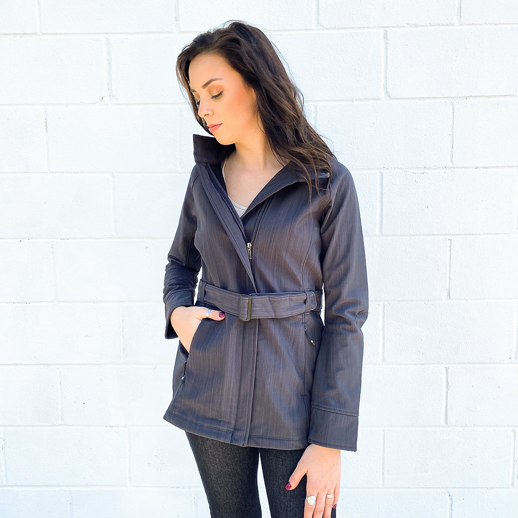 Three-Layer Textured Two-Tone Soft Shell Jacket