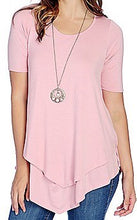 Load image into Gallery viewer, Elbow Sleeve Lined Tunic w/ Removable Necklace