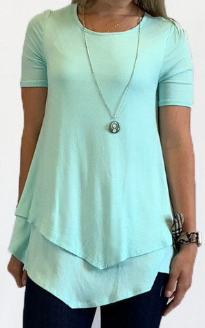 Elbow Sleeve Lined Tunic w/ Removable Necklace (bundle)