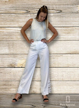 Load image into Gallery viewer, Pure White Lace Trim Pant (bundle)