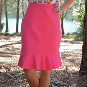 Linen Flounce Skirt  (bundle)